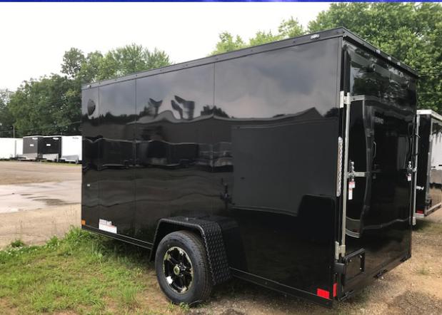 Black Mobile detailing trailer